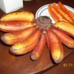 Red Bananas called Carao Bananas